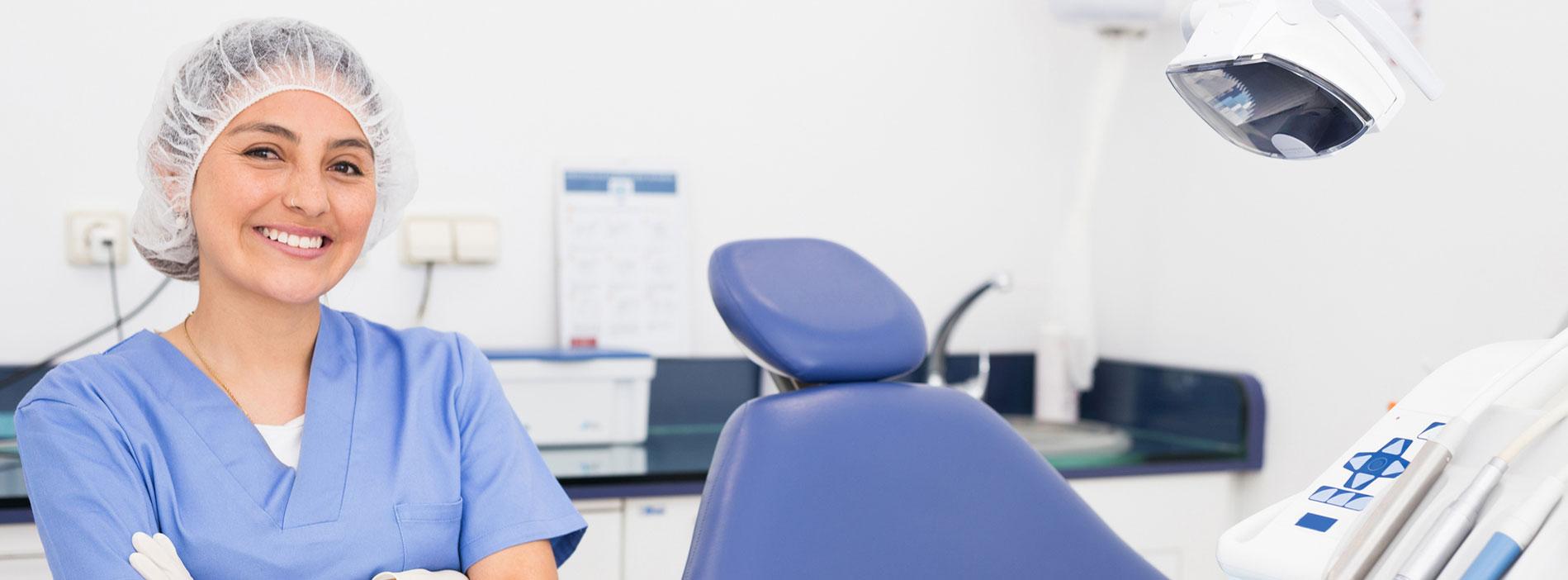 Dentist smiling at dental clinic